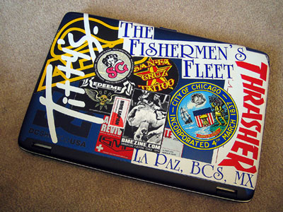 Laptop Decals on Laptop Stickers Fishing Fury A Fishing Blog With Attitude