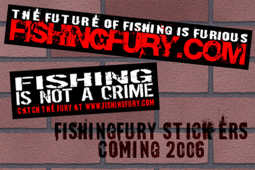 Fishing Fury Stickers