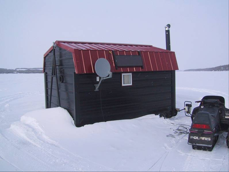 Image gallery ice fishing huts for Ice fishing hut