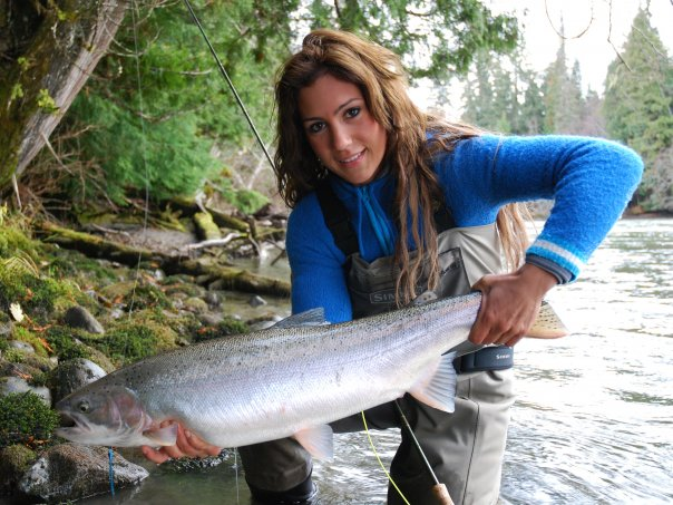 My name is April Vokey and I am a fishing guide in the Fraser Valley