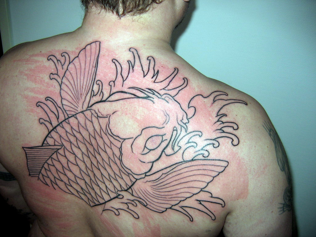 Huge Carp Tattoo