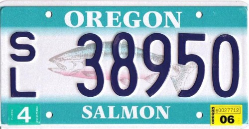 Oregon salmon plate