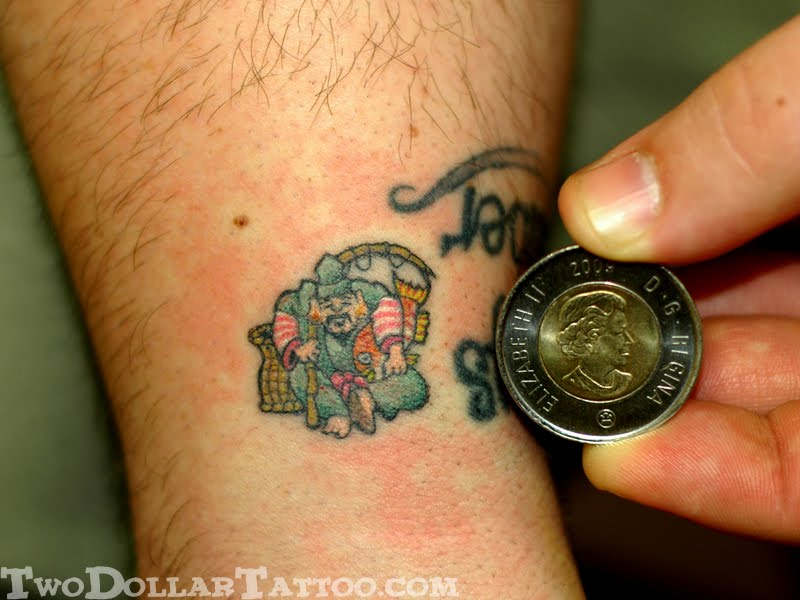 create without participation, and so he got his own Two Dollar Tattoo of