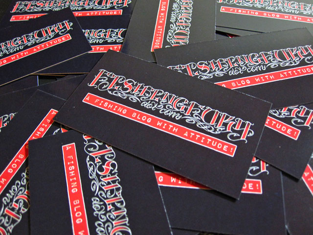New fishing fury business cards fishing fury a fishing blog fishing fury font is an original drawing created by our friend and tattoo artist alie k thanks alie related items alie k business cards colourmoves