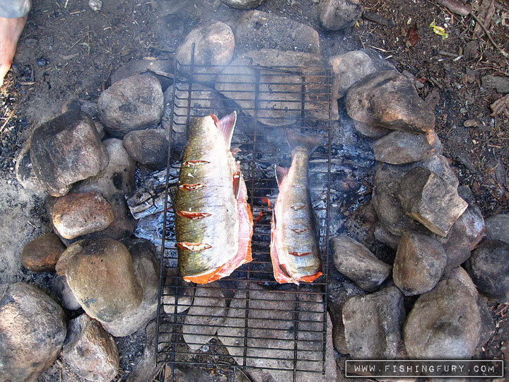 Cooking our Trout