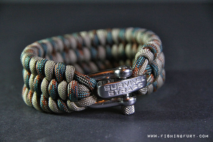 Wide Camo Survival Strap