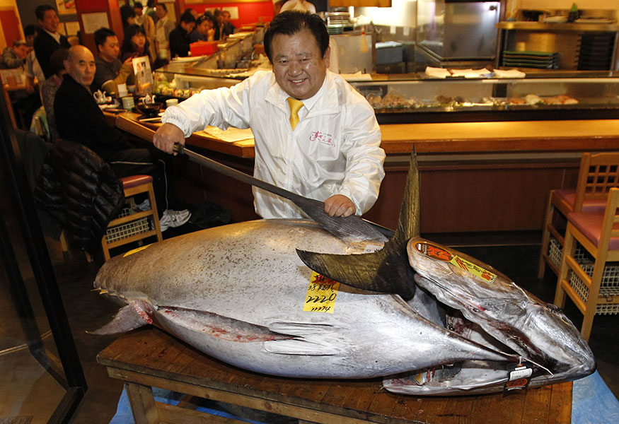 New Record Bluefin Tuna Price for 2013