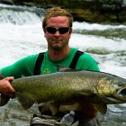 Eric with a massive salmon!