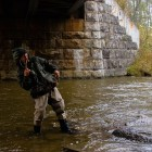 Rade Fighting a Steelhead