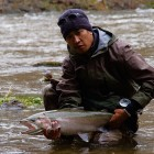Dave with a fresh steelhead