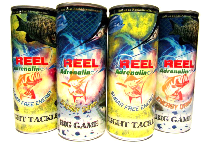 Reel adrenaline energy drink