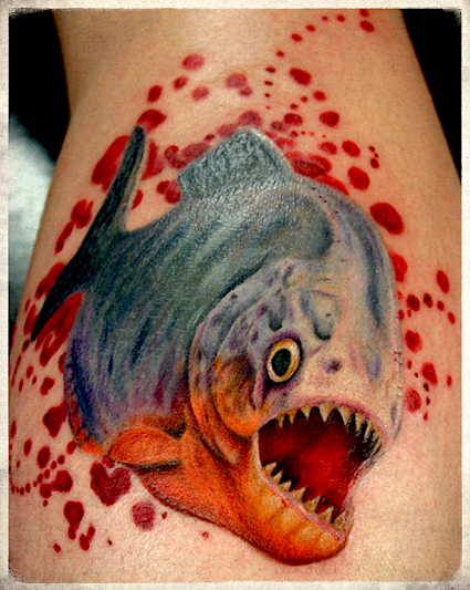 Piranha tattoo